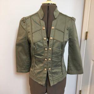 White House Black Market green short jacket
